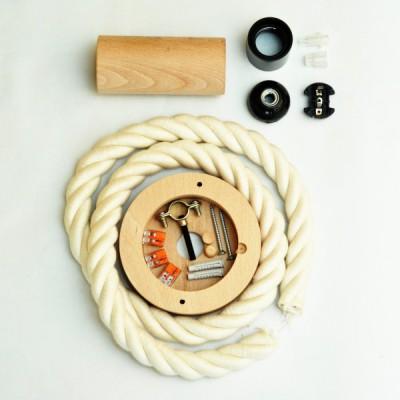 Foto vodič. Hitro in enostavno sestavi visečo luč iz lesa in XL vrvi.