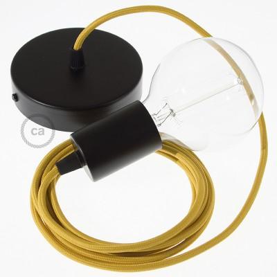 Viseča luč z okroglim tekstilnim kablom RM25 - gorčično rumen
