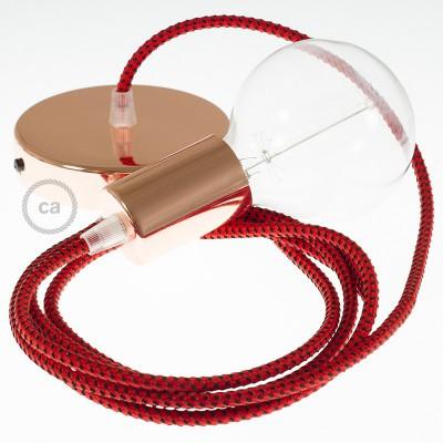 Viseča luč z okroglim tekstilnim kablom RT94 - rdeči vrag