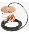 Viseča luč za senčilo z okroglim tekstilnim kablom RN03 - antracit lan