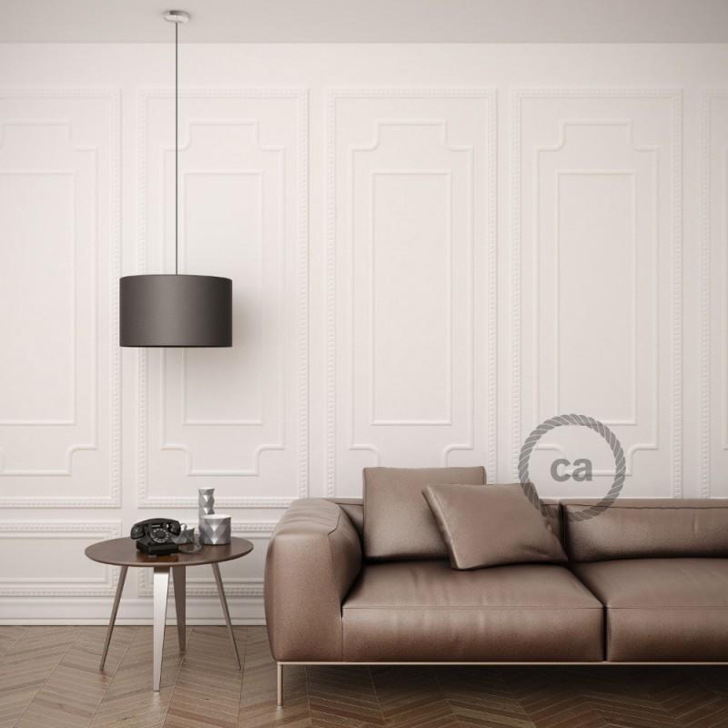 Viseča luč za senčilo z okroglim tekstilnim kablom RC30 - kamnito-siv bombaž