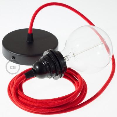 Viseča luč za senčilo z okroglim tekstilnim kablom RC35 - ognjeno rdeč bombaž