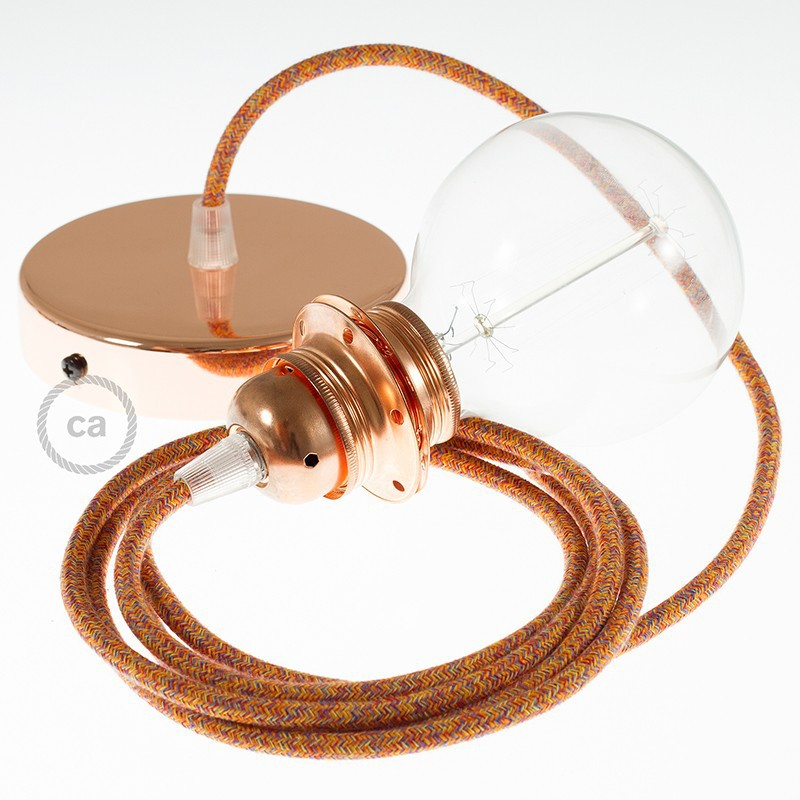 Viseča luč za senčilo z okroglim tekstilnim kablom RX07 - indijansko poletje