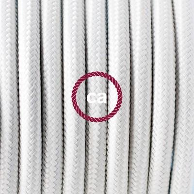 Viseča luč iz porcelana, set z okroglim tekstilnim kablom - bel RM01