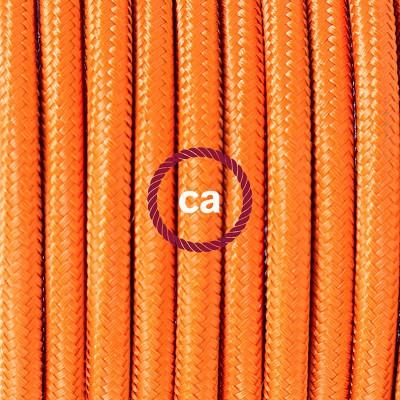 Viseča luč iz porcelana, set z okroglim tekstilnim kablom - oranžen RM15