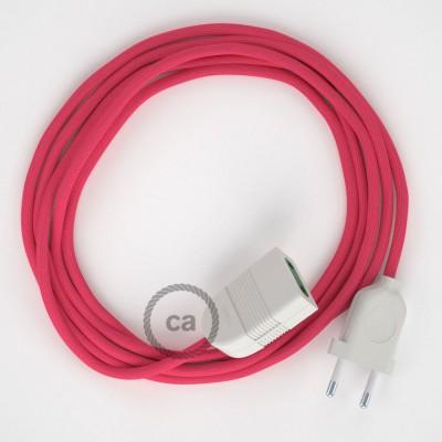 Podaljševalni kabel za napajanje (2P 10A) fuksija rejon RM08 - Made in Italy