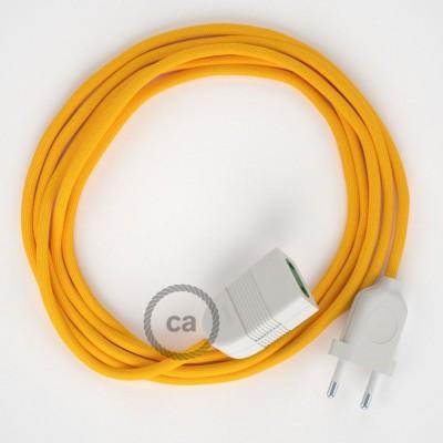 Podaljševalni kabel za napajanje (2P 10A) rumen rejon RM10 - Made in Italy