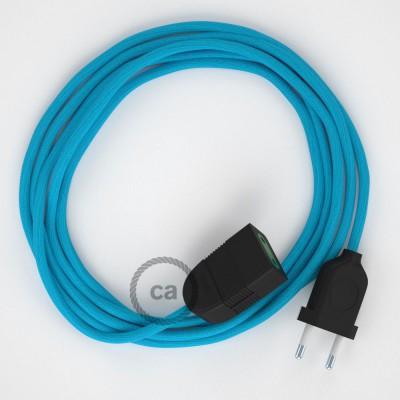 Podaljševalni kabel za napajanje (2P 10A) turkizen rejon RM11 - Made in Italy