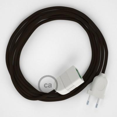 Podaljševalni kabel za napajanje (2P 10A) rjav rejon RM13 - Made in Italy