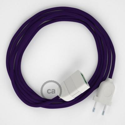 Podaljševalni kabel za napajanje (2P 10A) vijola rejon RM14 - Made in Italy