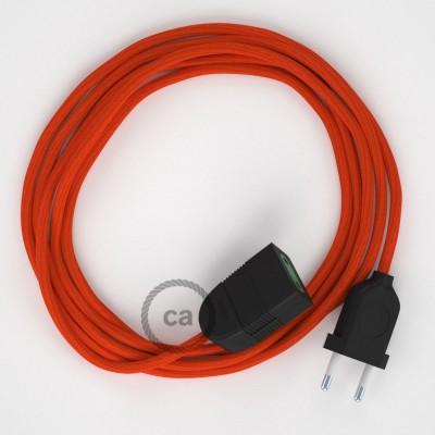 Podaljševalni kabel za napajanje (2P 10A) oranžen rejon RM15 - Made in Italy