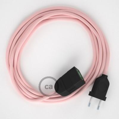 Podaljševalni kabel za napajanje (2P 10A) Baby Pink rejon RM16 - Made in Italy