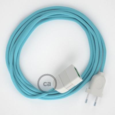 Podaljševalni kabel za napajanje (2P 10A) Baby blue rejon RM17 - Made in Italy