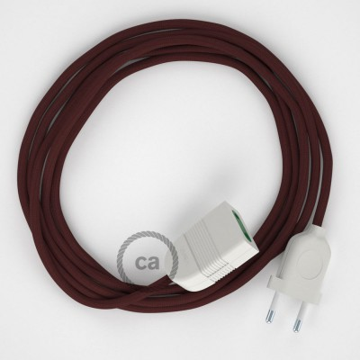 Podaljševalni kabel za napajanje (2P 10A) bordo rejon RM19 - Made in Italy