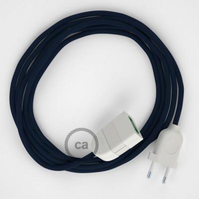 Podaljševalni kabel za napajanje (2P 10A) temno moder rejon RM20 - Made in Italy