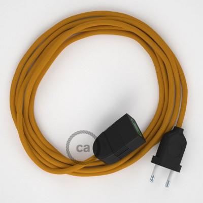Podaljševalni kabel za napajanje (2P 10A) gorčično rumen rejon RM25 - Made in Italy