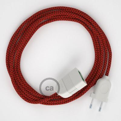 Podaljševalni kabel za napajanje (2P 10A) rdeči vrag rejon RT94 - Made in Italy