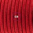 Komplet s stikalom, RL09 lesketajoč rdeč rejon 1,80 m. Izberite barvo vtikača in stikala.
