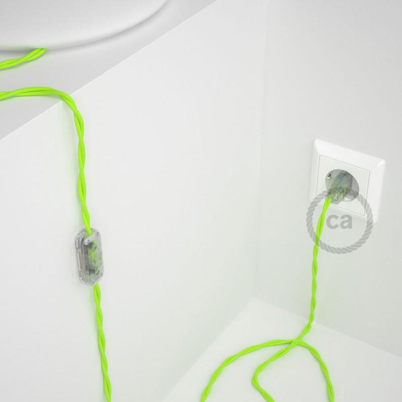Komplet s stikalom, TF10 fluo rumen rejon 1,80 m. Izberite barvo vtikača in stikala.