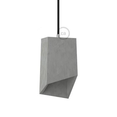 Prizma, senčilo iz cementa z objemko in grlom E27
