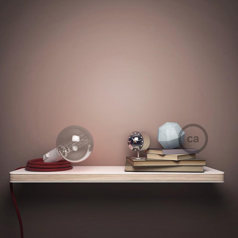 """Viseča luč """"Kača"""" iz okroglega kabla RD61, Romb, lan in rožnati bombaž."""