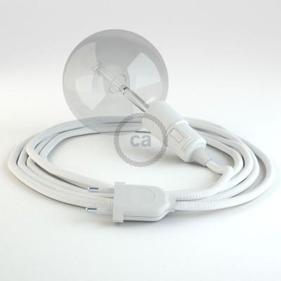 """Viseča luč """"Kača"""" iz okroglega kabla RM01, bel."""