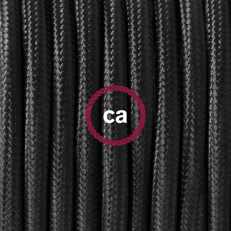 """Viseča luč """"Kača"""" iz okroglega kabla RM04, črn."""