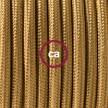"""Viseča luč """"Kača"""" iz okroglega kabla RM05, zlat."""