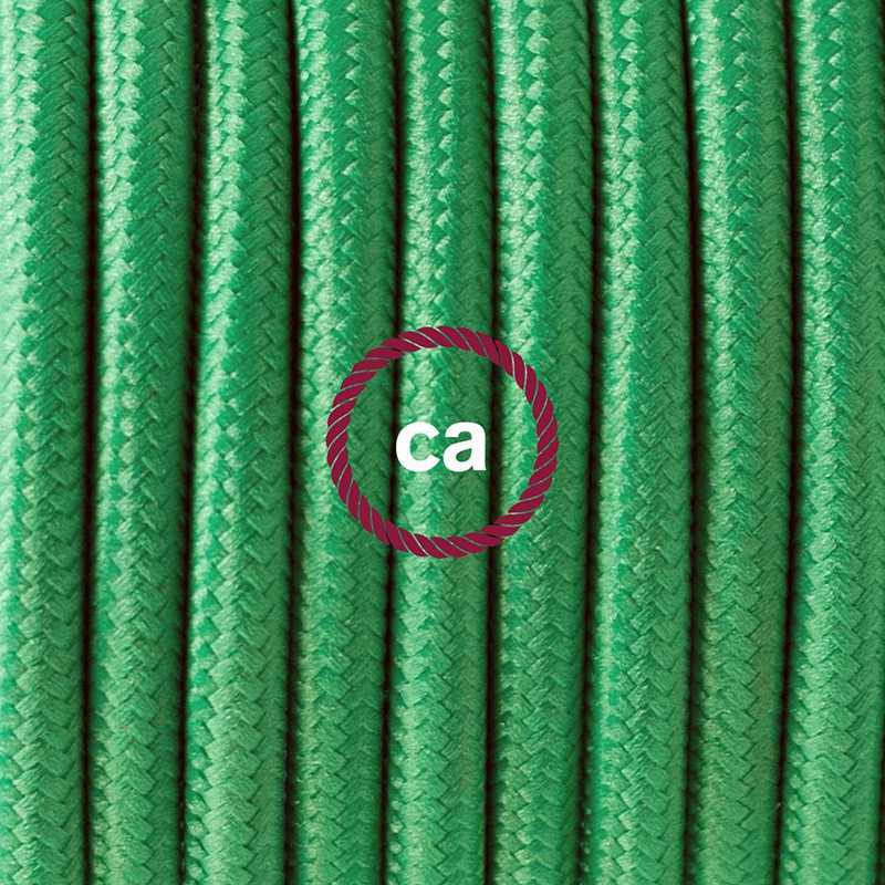 """Viseča luč """"Kača"""" iz okroglega kabla RM06, zelen."""