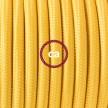 "Viseča luč ""Kača"" iz okroglega kabla RM10, rumen."
