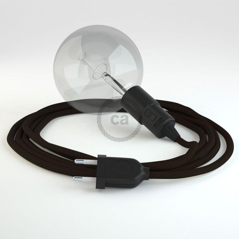 """Viseča luč """"Kača"""" iz okroglega kabla RM13, rjav."""