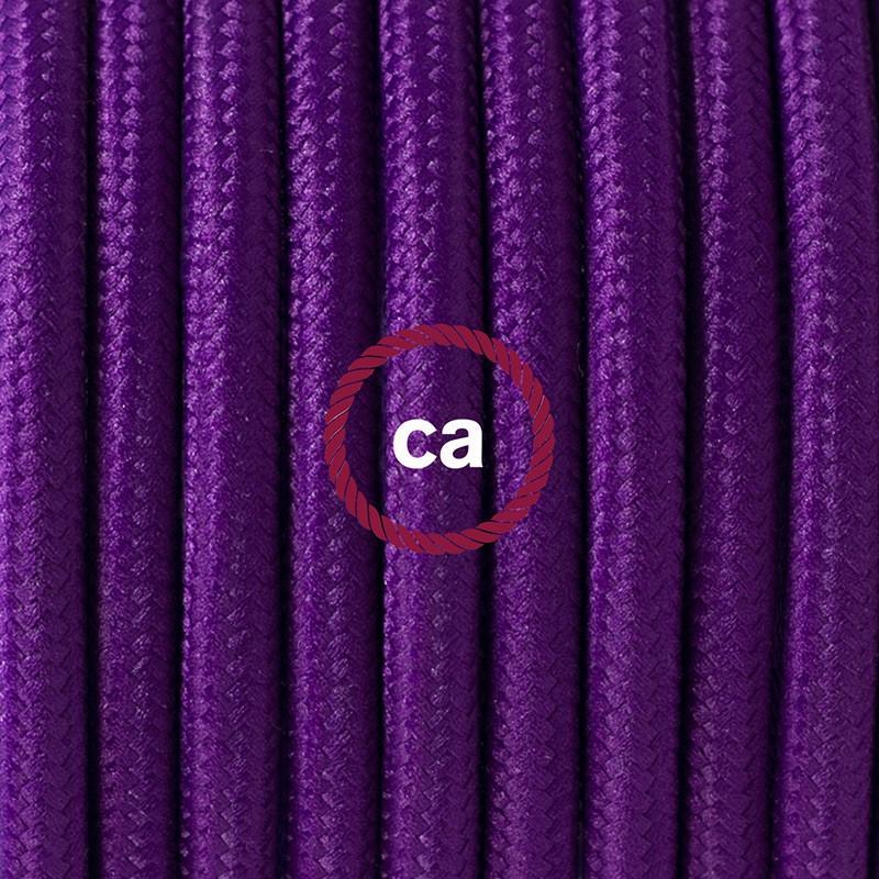 """Viseča luč """"Kača"""" iz okroglega kabla RM14, vijola."""