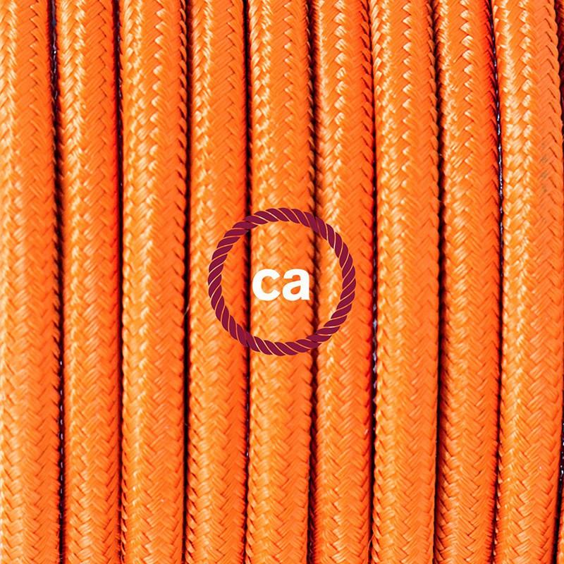 """Viseča luč """"Kača"""" iz okroglega kabla RM15, oranžen."""