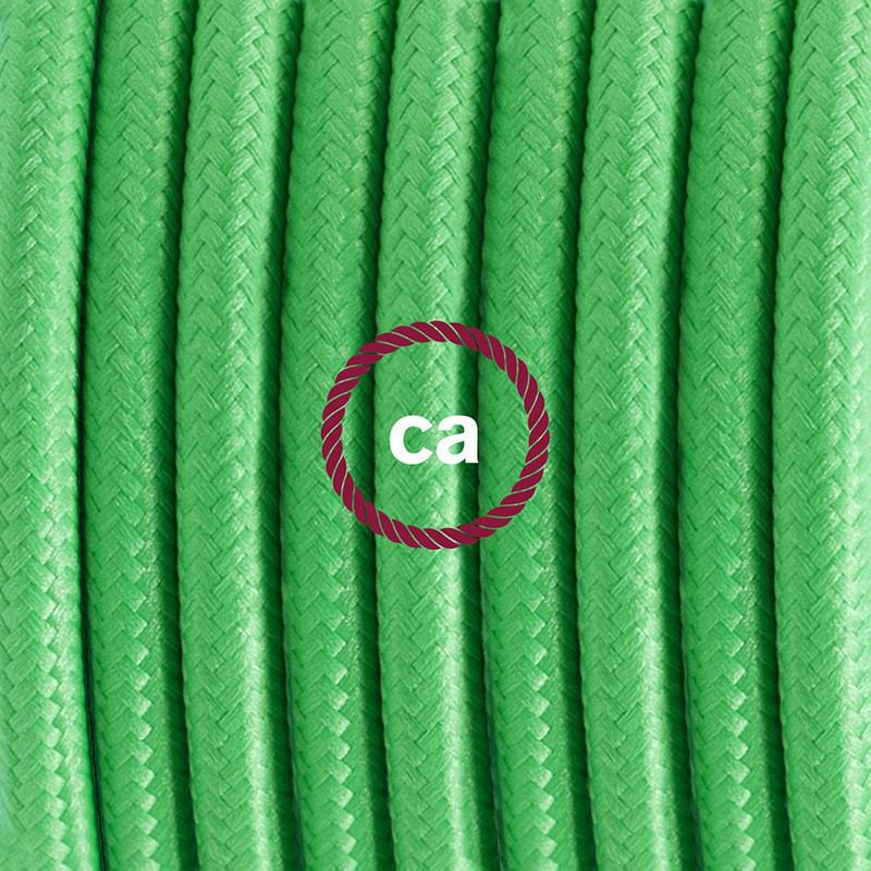 """Viseča luč """"Kača"""" iz okroglega kabla RM18, limeta zelen."""