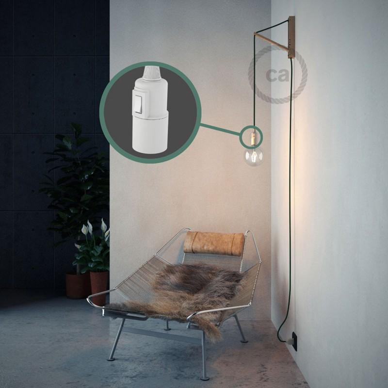 """Viseča luč """"Kača"""" iz okroglega kabla RM21, temno zelen."""