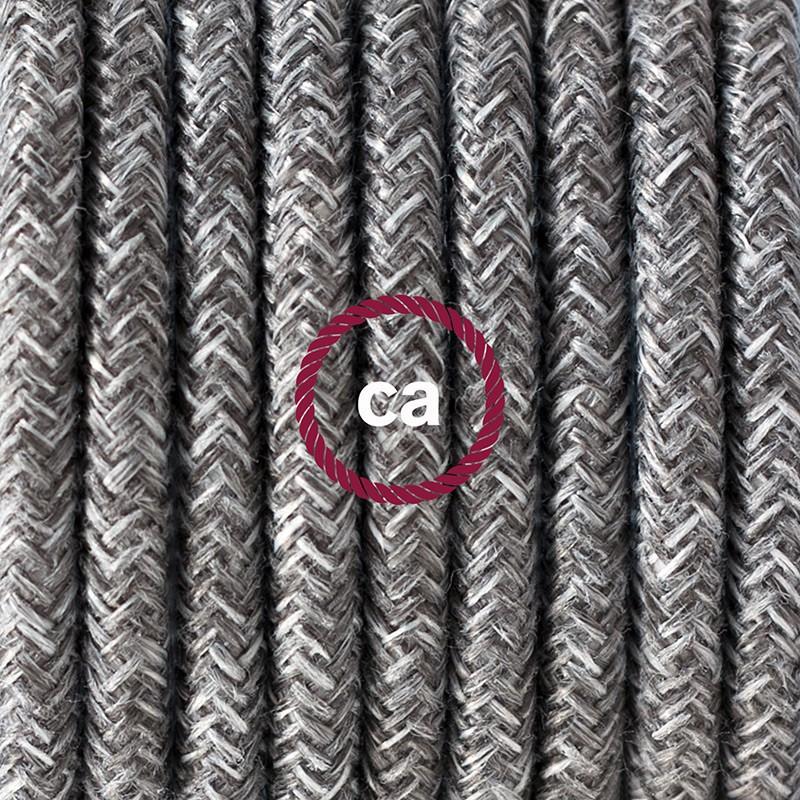"Viseča luč ""Kača"" iz okroglega kabla RN02, siv lan."