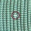 """Viseča luč """"Kača"""" iz okroglega kabla RZ06, zigzag zelen."""
