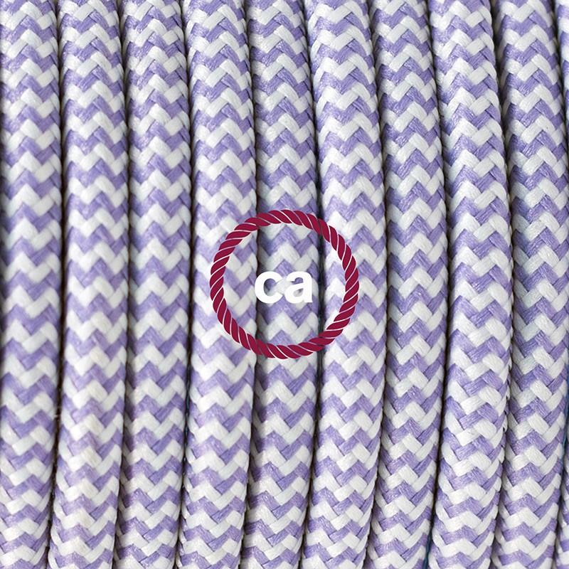"""Viseča luč """"Kača"""" iz okroglega kabla RZ07, zigzag lila."""