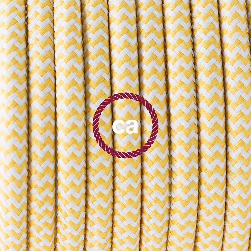 "Viseča luč ""Kača"" iz okroglega kabla RZ10, zigzag rumen."