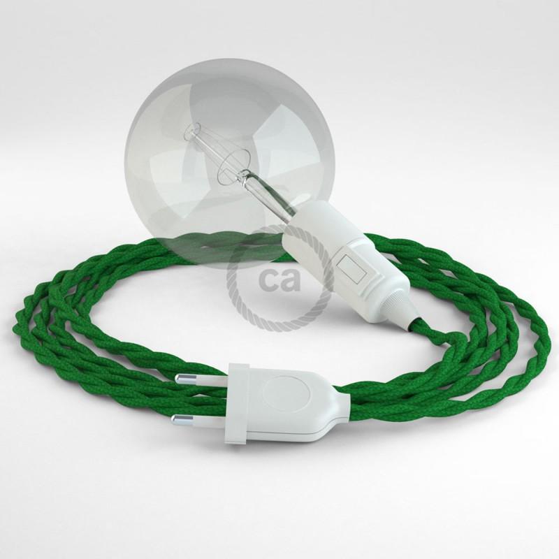 """Viseča luč """"Kača"""" iz zavitega kabla TM06, zelen."""