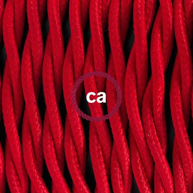 """Viseča luč """"Kača"""" iz zavitega kabla TM09, rdeč."""