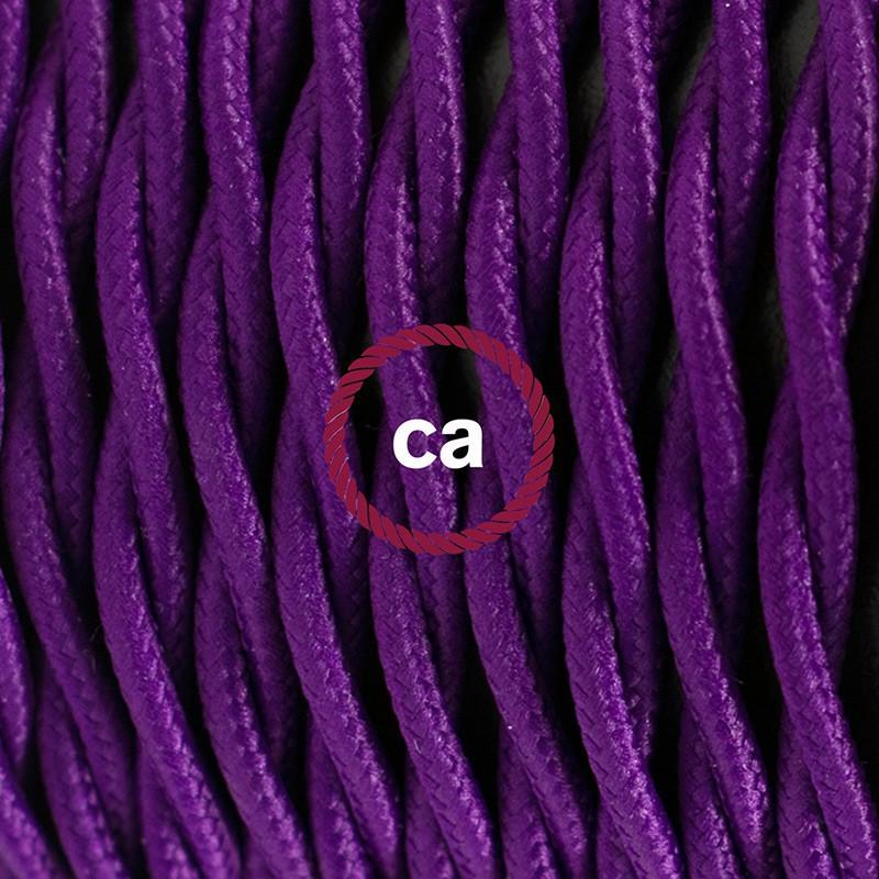 """Viseča luč """"Kača"""" iz zavitega kabla TM14, vijola."""
