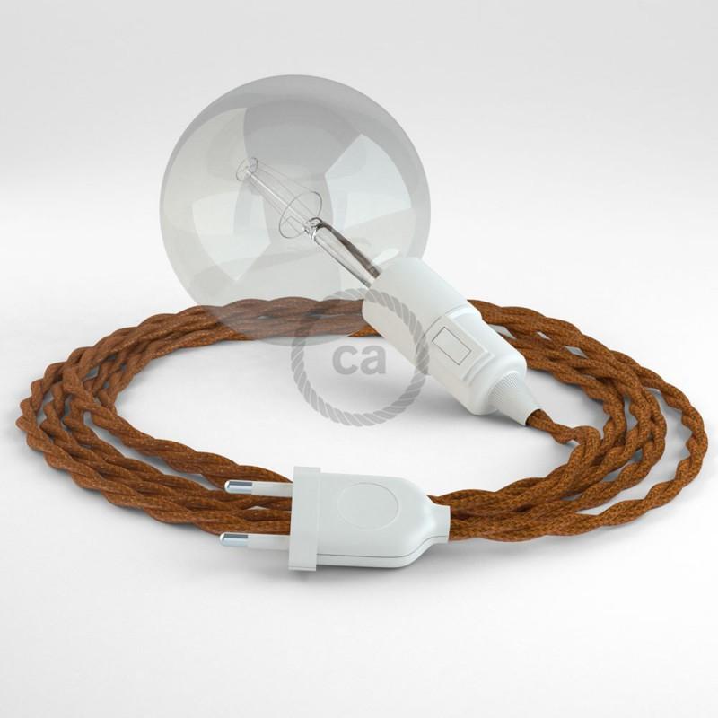 """Viseča luč """"Kača"""" iz zavitega kabla TM22, Whiskey."""