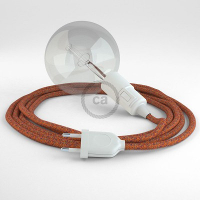 "Viseča luč ""Kača"" iz okroglega kabla RX07, indijansko poletje."