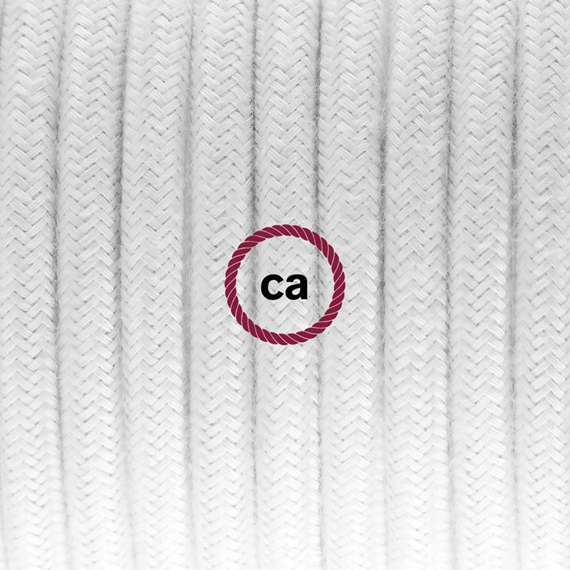 """Viseča luč """"Kača"""" za senčilo iz okroglega kabla RC01, bel bombaž."""