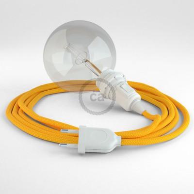 "Viseča luč ""Kača"" za senčilo iz okroglega kabla RM10, rumen."