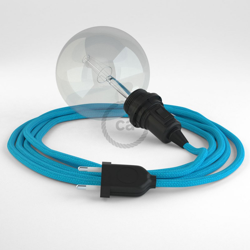 """Viseča luč """"Kača"""" za senčilo iz okroglega kabla RM11, turkizen."""