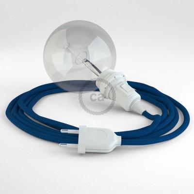 """Viseča luč """"Kača"""" za senčilo iz okroglega kabla RM12, moder."""