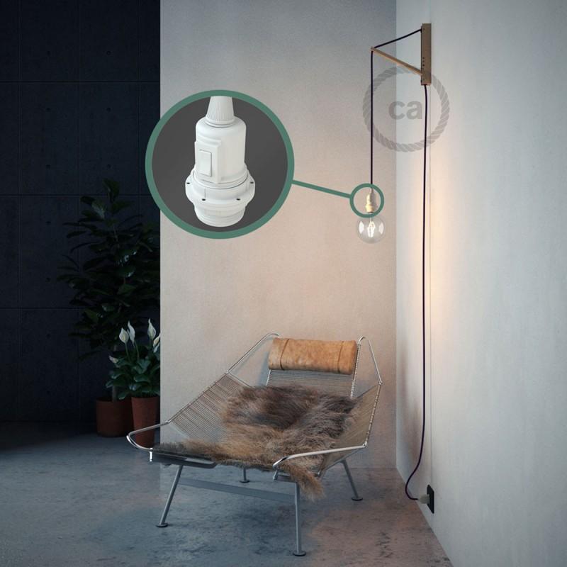 """Viseča luč """"Kača"""" za senčilo iz okroglega kabla RM14, vijola."""