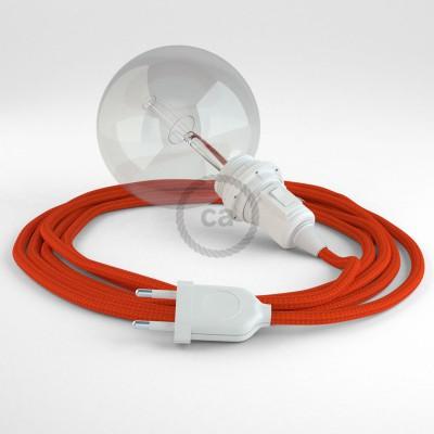 """Viseča luč """"Kača"""" za senčilo iz okroglega kabla RM15, oranžen."""
